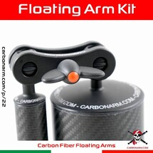 """Carbonarm's Floating Arm Kit 🇮🇹  Carbonarm uses only 100% Carbon Fiber """"Made in Italy"""" to guarantee an extraordinary resistance to wear and salt, with very low weight.  The quality of the carbon fiber tubes that we choose for our arms, are very high, as can be seen from the beauty of the weave. The balls are made of anticordal aluminum, anodised 40 microns and have an o-ring to facilitate grip with the clamps. The balls are glued to the carbon tube with a special glue, thus ensuring a seal up to 150 meters of depth. 👇  🔗 www.carbonarm.com/4-  👇  Available through our dealers worldwide: @easydive @gopro_italia_by_gocamera @plongimage @la_camera_embarquee @kanauimagen @tiefensteinunterwasserwelten @divesea.hq @photodenfert and more to come... . . #carbonarm #goproherocase #underwaterscooter #dpv #scuba #underwater #underwaterphotography #underwaterlife #underwatershots #wildlifephotography #scubadivinglife #underwater_world_ #scubadiving #uwphoto #underwaterphoto #uwphotography #undewatervideo #actioncamera #actioncam #floatingarm #uwhousing #ultralightarms #brackets #clamps #gopro #underwatervideo #underwatervideography #underwatercarbonfiberfloatarms #underwaterarms #flexarm"""
